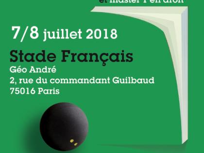 Tournoi de squash des professions juridiques et judiciaires - Edition 2018